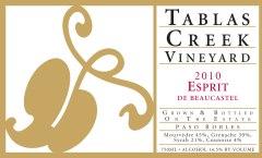 "2010 Tablas Creek ""Espirit de Beaucastel"""