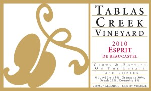 "2010 Tablas Creek ""Espirit de Beaucastel"""