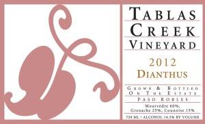 "2012 Tablas Creek ""Dianthus"" Rose'"