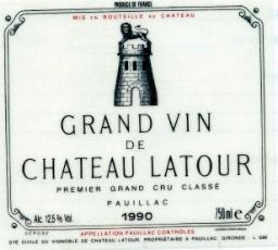 1990 Grand Vin de Chateau Latour