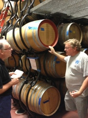 Ken in the barrel room