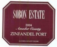 Sobon Estate Amador County Zinfandel Port
