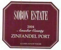 Sobon Estate Amador County Zinfandel Port