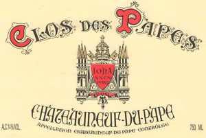 Clos des Papes Chateau-du-Pape 2012