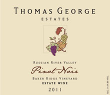 2011 Thomas George Baker Estate Vineyard Pinot Noir