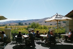 Outdoor Patio overlooking vineyards