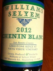 Williams Selyem Chenin Blanc 2012 San Benito County