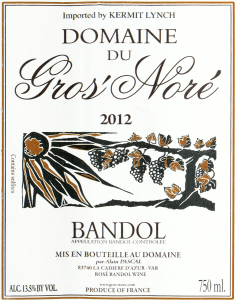 Domaine Gros Nore Bandol 2012