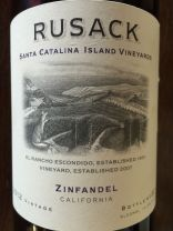 2012 Rusack Zinfandel Santa Catalina Island