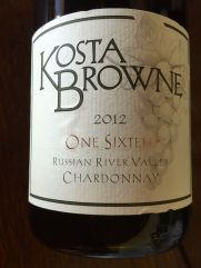 "2012 Kosta Browne ""116"" Chardonnay Russian River Valley"