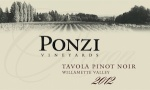 "2012 Ponzi ""Tavola"" Pinot Noir Willamette Valley"