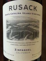 Rusack Zinfandel Santa Catalina Island