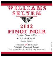 "2012 Williams Selyem Pinot Noir ""Foss Vineyard"" Russian River Valley"