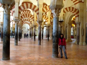 Karen at the Mezquita in Cordoba, Spain