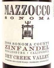 Mazzocco Zinfandel Dry Creek Valley