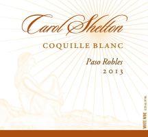 """2013 Carol Shelton """"Coquille Blanc"""""""