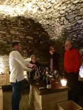 Tasting in Saint Charles Cave