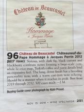 Chateau de Beaucastel Chateauneuf-du-Pape Hommage a Jacques Perrin 2012