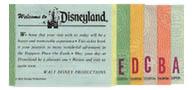 Original Disneyland ticket coupons